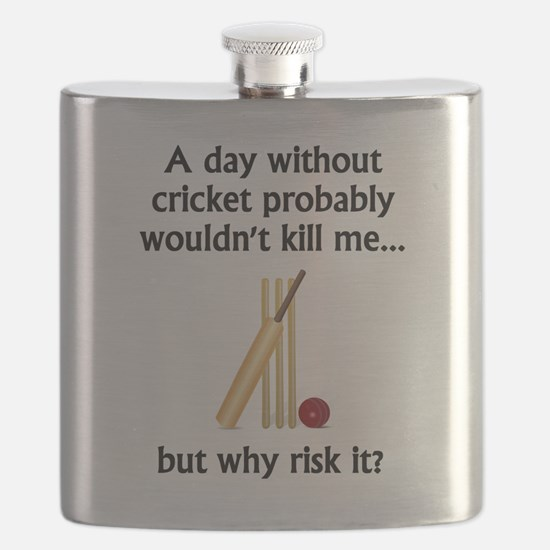 A Day Without Cricket Flask