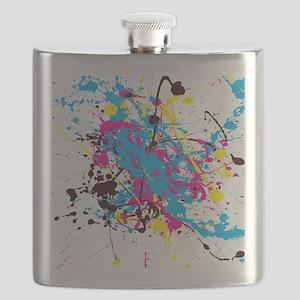 CMYK Splatter Flask