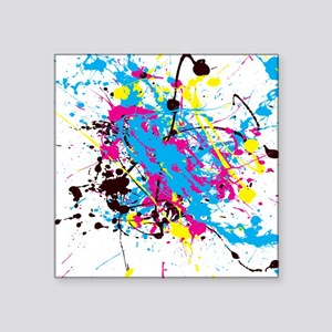 "CMYK Splatter Square Sticker 3"" x 3"""