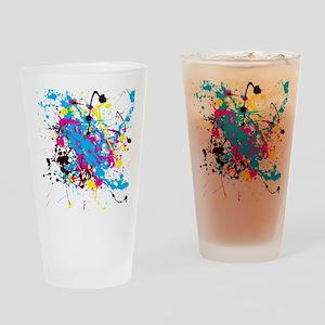 CMYK Splatter Drinking Glass