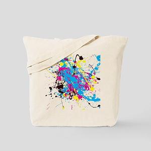 CMYK Splatter Tote Bag