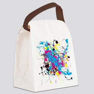 CMYK Splatter Canvas Lunch Bag