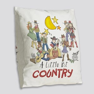 littlebitcountry Burlap Throw Pillow