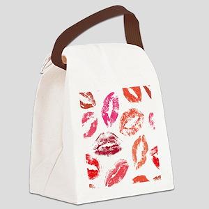 Lips - Lipstick Canvas Lunch Bag