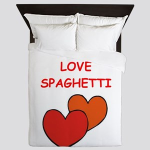 spaghetti Queen Duvet