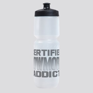 Certified Snowmobile Addict Sports Bottle