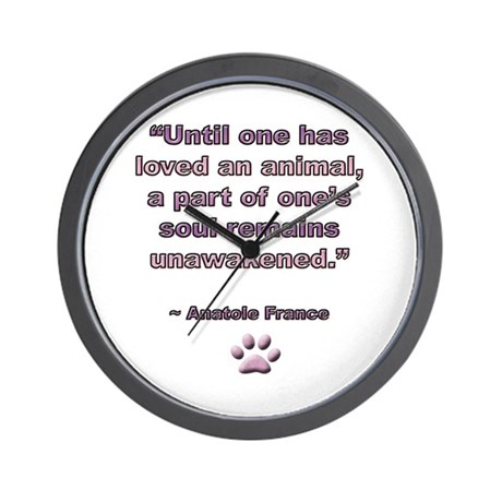 Anatole France Quote Wall Clock