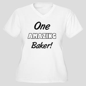 One Amazing Baker Women's Plus Size V-Neck T-Shirt