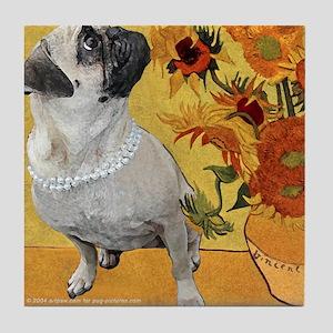 Pug Van Gogh Art Tile
