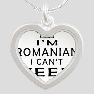 I Am Romanian I Can Not Keep Calm Silver Heart Nec