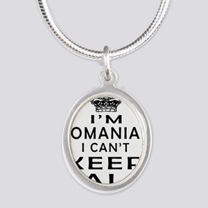 I Am Romanian I Can Not Keep Calm Silver Oval Neck