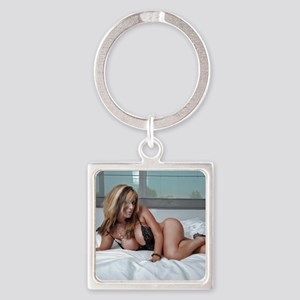 Pin-Up Square Keychain