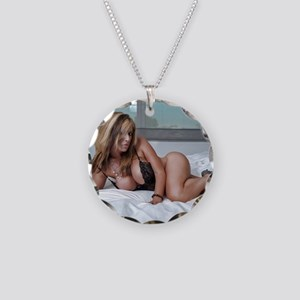 Pin-Up Necklace Circle Charm