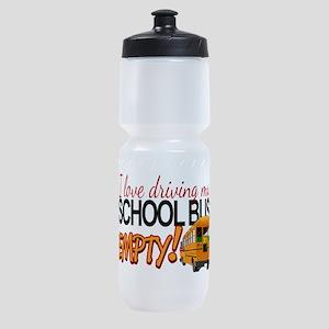 Bus Driver - Empty Bus Sports Bottle
