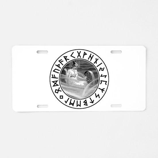 Frigg Rune Shield Aluminum License Plate