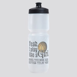 Play Like a Girl - Basketball Sports Bottle
