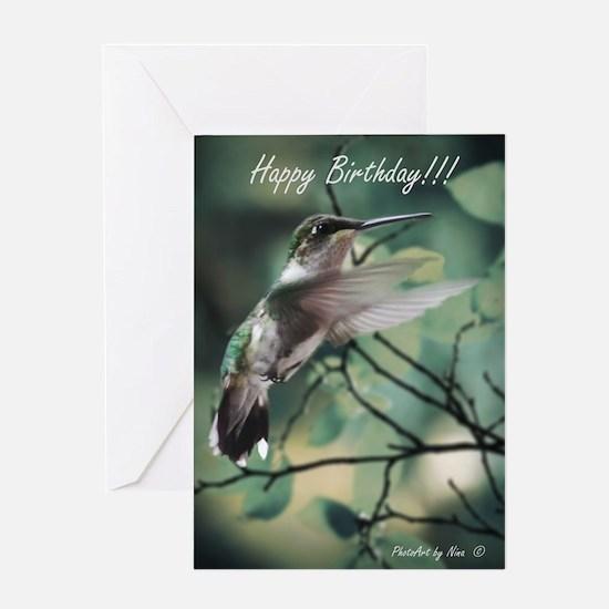 Hummingbird Birthday Greeting Card