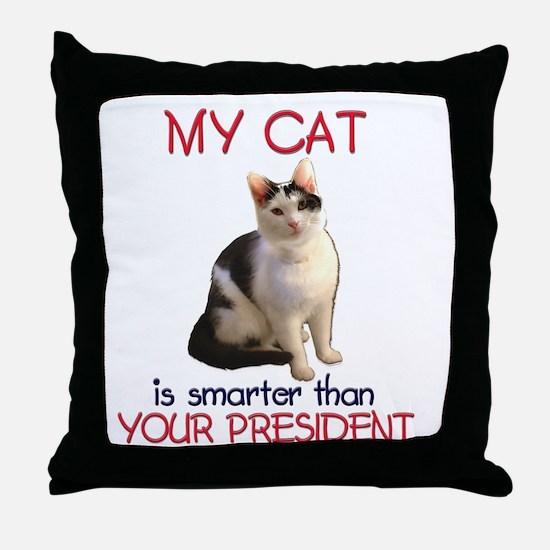 Cat > Bush 2 Throw Pillow