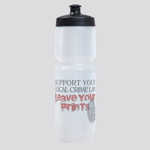 Crime Lab - Leave Your Prints Sports Bottle