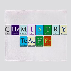 Chemistry Teacher Throw Blanket