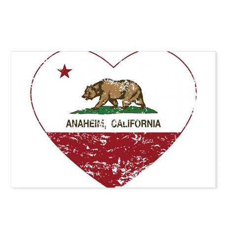 california flag anaheim heart distressed Postcards