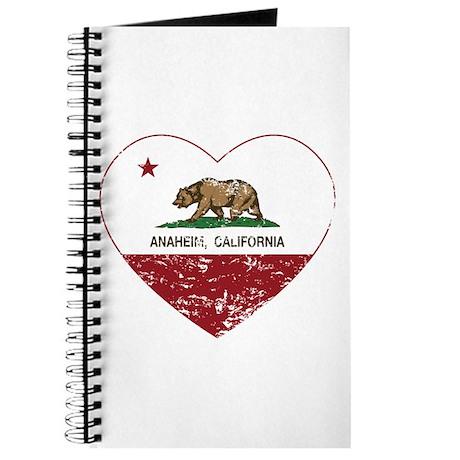 california flag anaheim heart distressed Journal