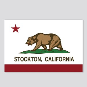 california flag stockton Postcards (Package of 8)