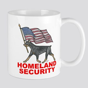 DOBERMAN HOMELAND SECURITY Mugs