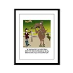 Horse Play Framed Panel Print