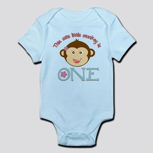 Adorable Little Monkey Girl 1st Birthday Infant Bo