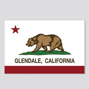 california flag glendale Postcards (Package of 8)