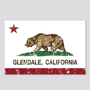 california flag glendale distressed Postcards (Pac