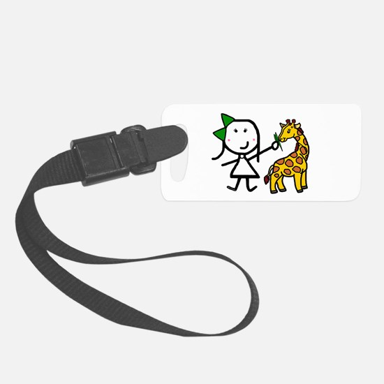 Girl & Giraffe Luggage Tag