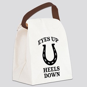 Eyes Up Heels Down Canvas Lunch Bag