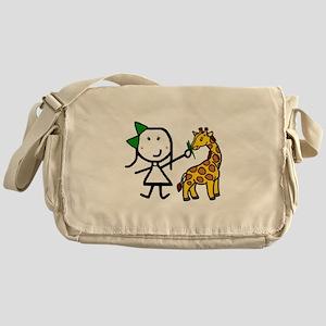 Girl & Giraffe Messenger Bag