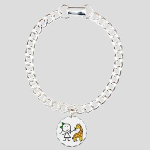 Girl & Giraffe Charm Bracelet, One Charm