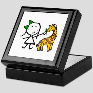 Girl & Giraffe Keepsake Box