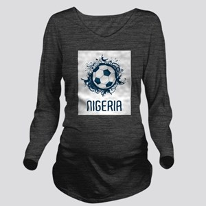 Nigeria Football Long Sleeve Maternity T-Shirt