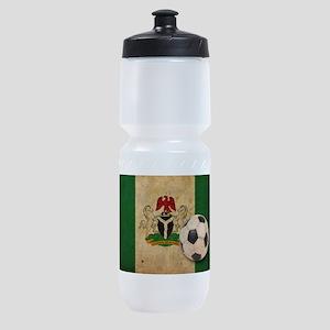 Vintage Nigeria Football Sports Bottle
