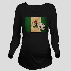 Vintage Nigeria Football Long Sleeve Maternity T-S