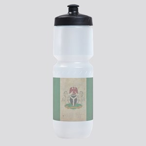 Vintage Nigeria Flag Sports Bottle