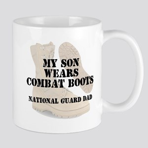 National Guard Dad Son wears DCB Mugs