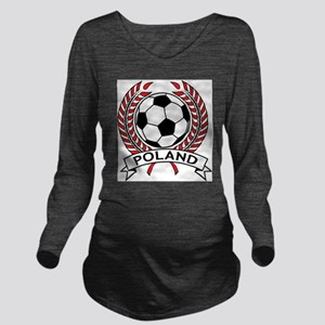 Poland Soccer Long Sleeve Maternity T-Shirt