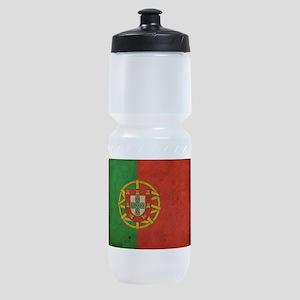 Vintage Portugal Flag Sports Bottle