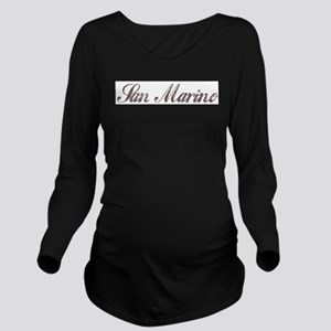 Vintage San Marino Long Sleeve Maternity T-Shirt