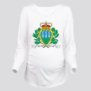 San Marino Coat Of Arms Long Sleeve Maternity T-Sh