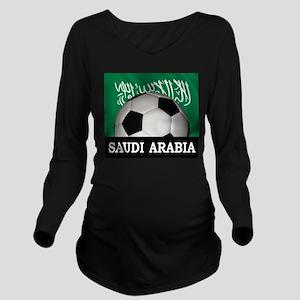 Football Saudi Arabia Long Sleeve Maternity T-Shir