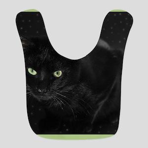 Mystical Black Cat Bib