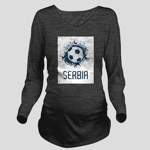 Serbia Football Long Sleeve Maternity T-Shirt
