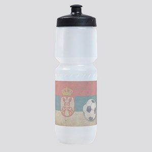 Vintage Serbia Football Sports Bottle